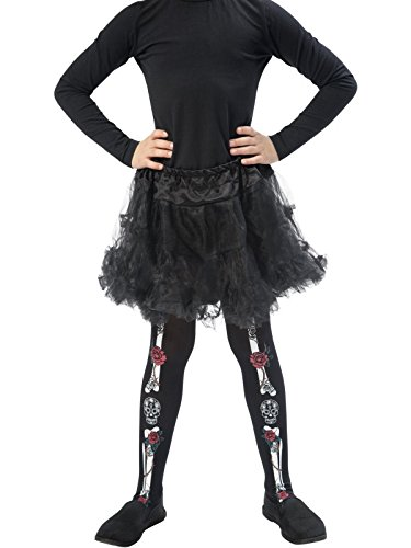 Child day of the dead tights. Smiffys 48159