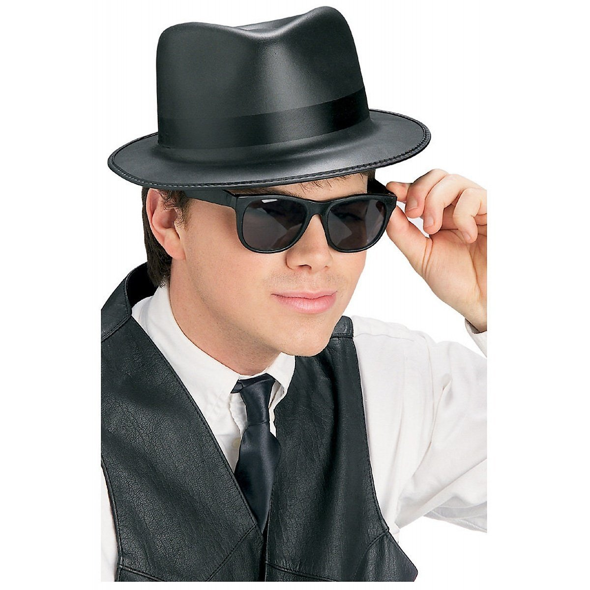 b2a13a7eda The Blues Brothers Hat   Glasses Set 568