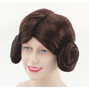 Star Wars Space Princess Leia Leah Wig Fancy Dress
