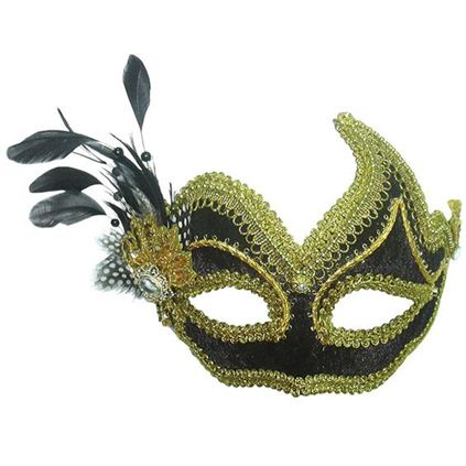 Black and gold masquerade mask EM388