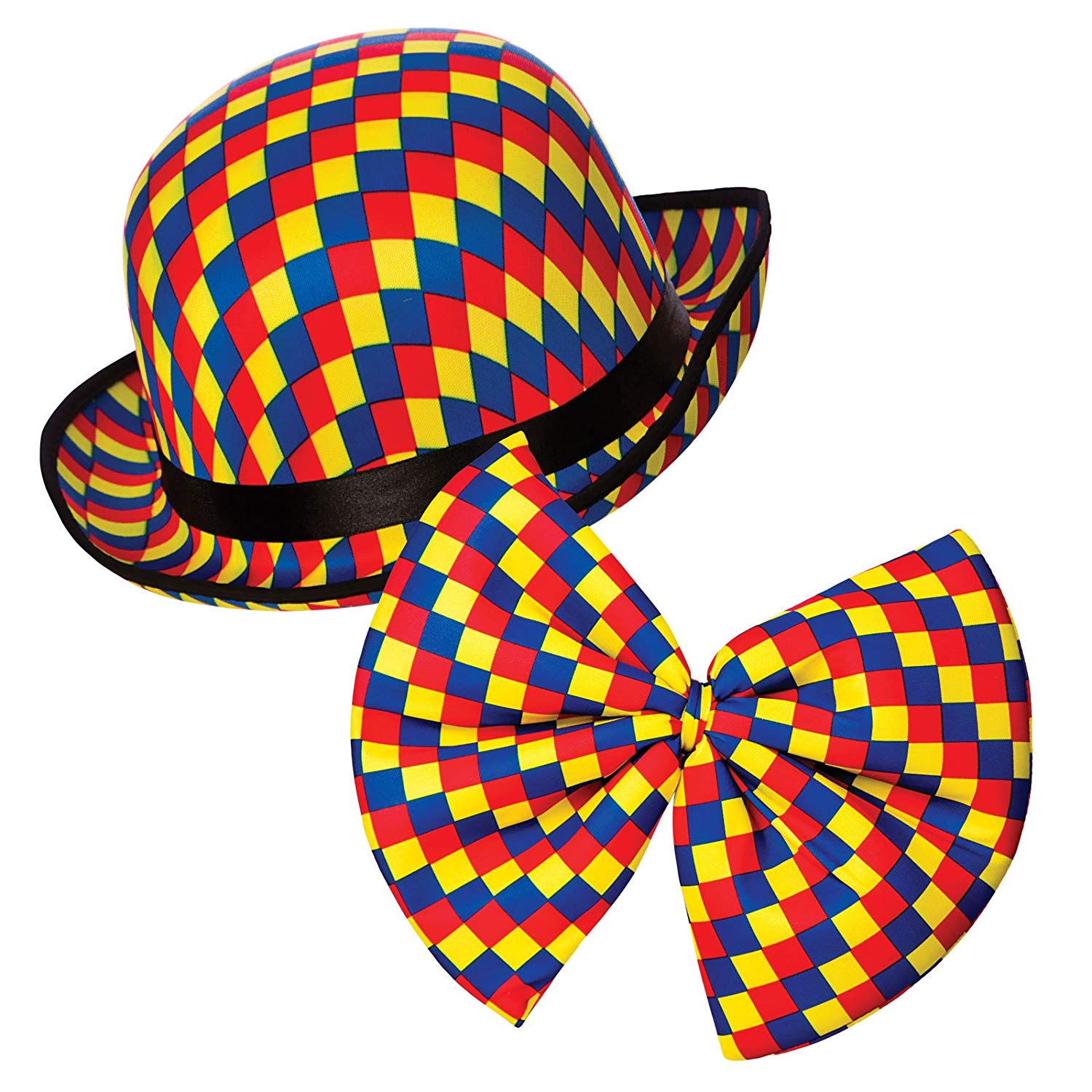 65554b3484ae1 Clown bowler hat and bow tie ac9208