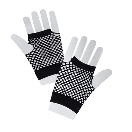 Black fishnet gloves BA570