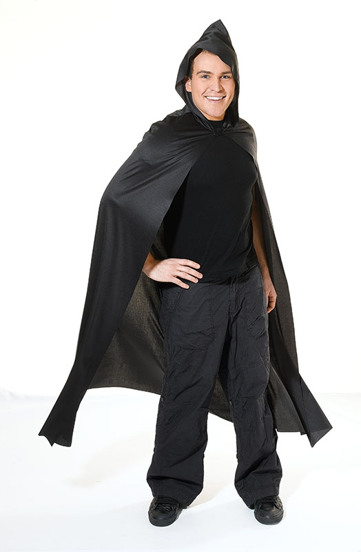 Hooded black cape adult  AC965