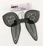 BA868 Black net angel wings
