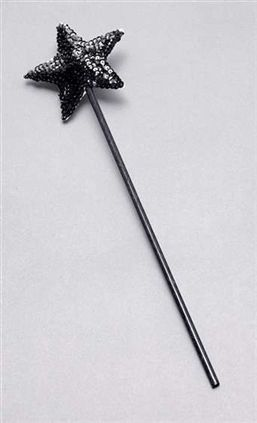 Black sequin wand BA1070