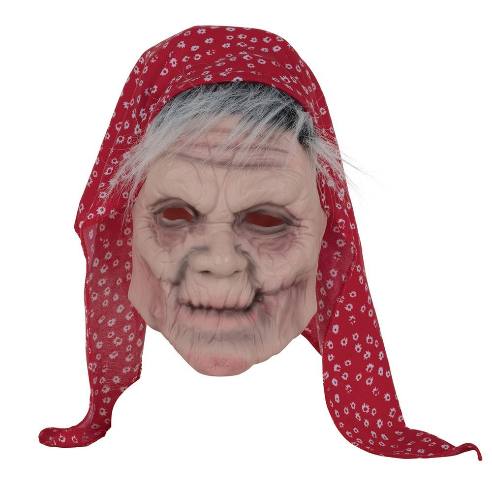 Old lady mask with scarf bm524