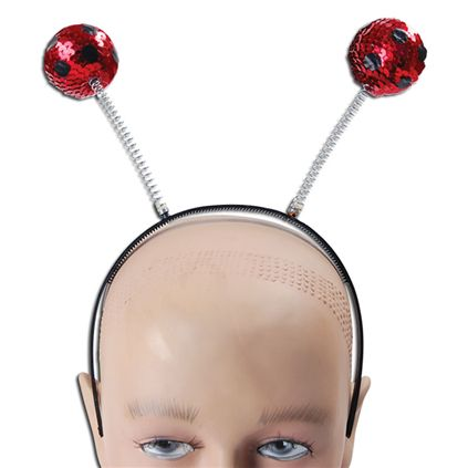 Sequin ladybird head boppers BA032