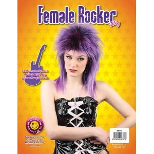 bw760 purple unisex rocker wig