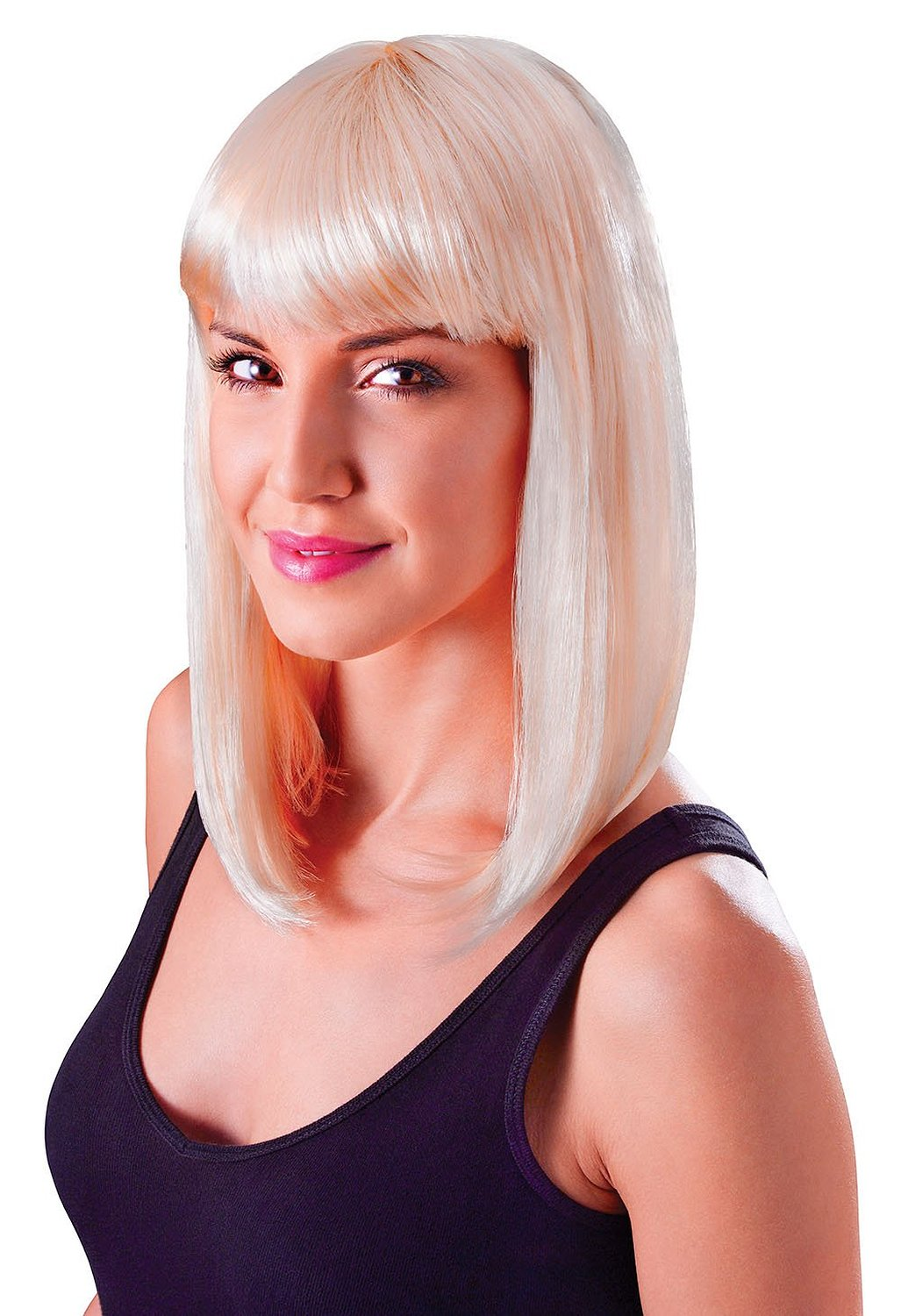 Blonde chic cheerleader wig bw851