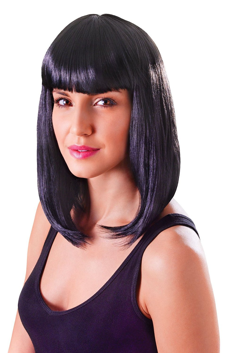 Black chic cheerleader wig bw852