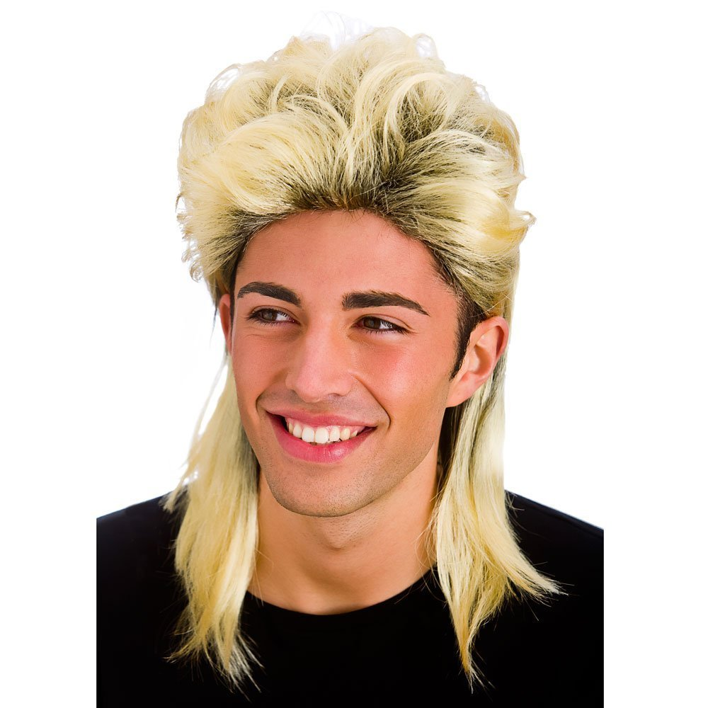 80's blonde mullet wig. Wicked ew8190