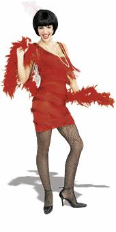 20's Roarin' Red Flapper costume 16852