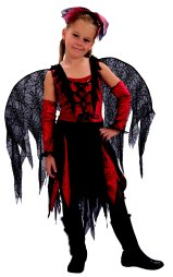 Goth spider fairy  costume kids