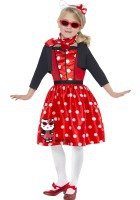Hello Kitty Retro 50'S Cherry Costume ef-37241L
