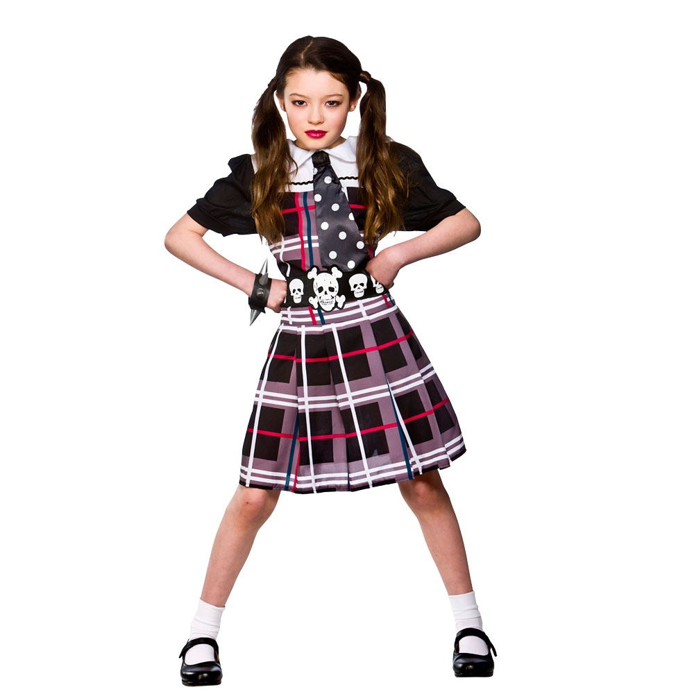 Freaky school girl costume large 8-10 years hg6033