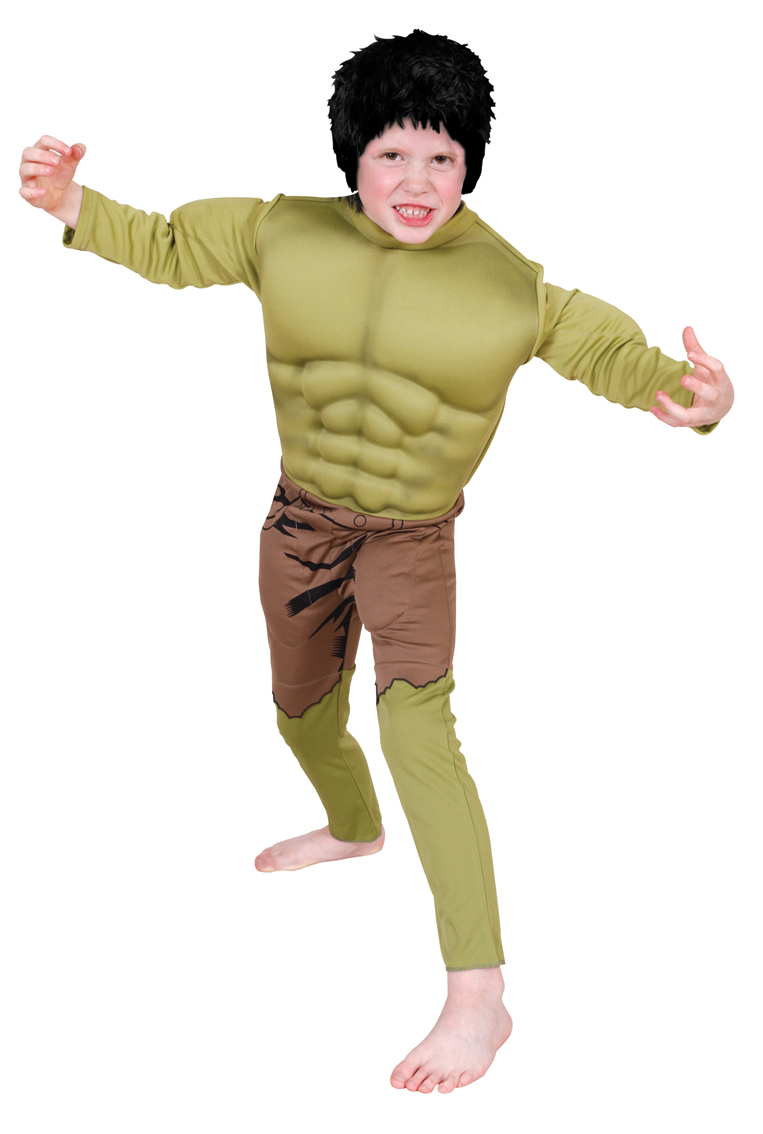 Boys E.V. A muscle chest Hulk costume 881320