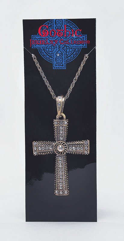 Metal gothic cross necklace BA921
