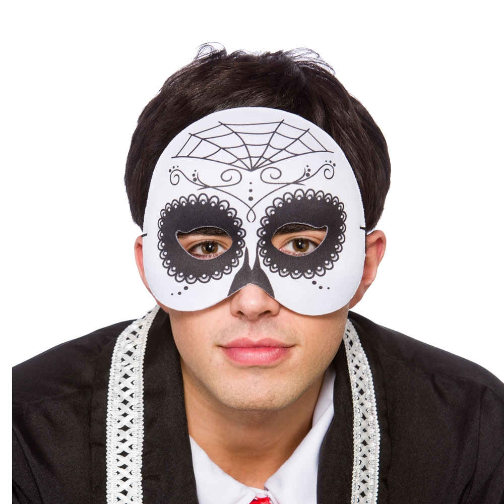 Day of the dead half mask mk9926