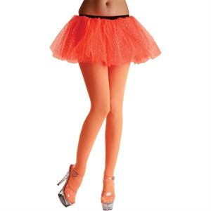 Neon orange adult tights TS-7026