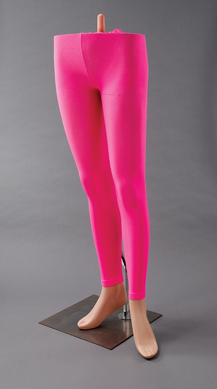 Pink footless tights BA393