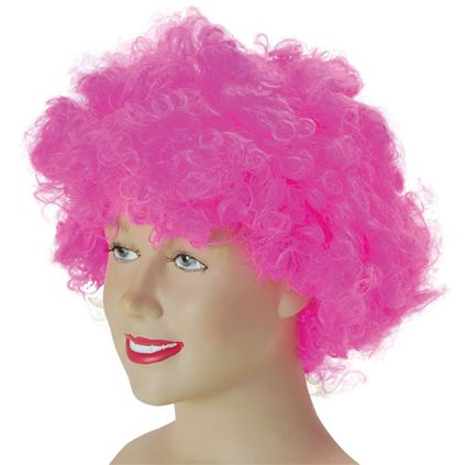 Pink curly afro wig BW057