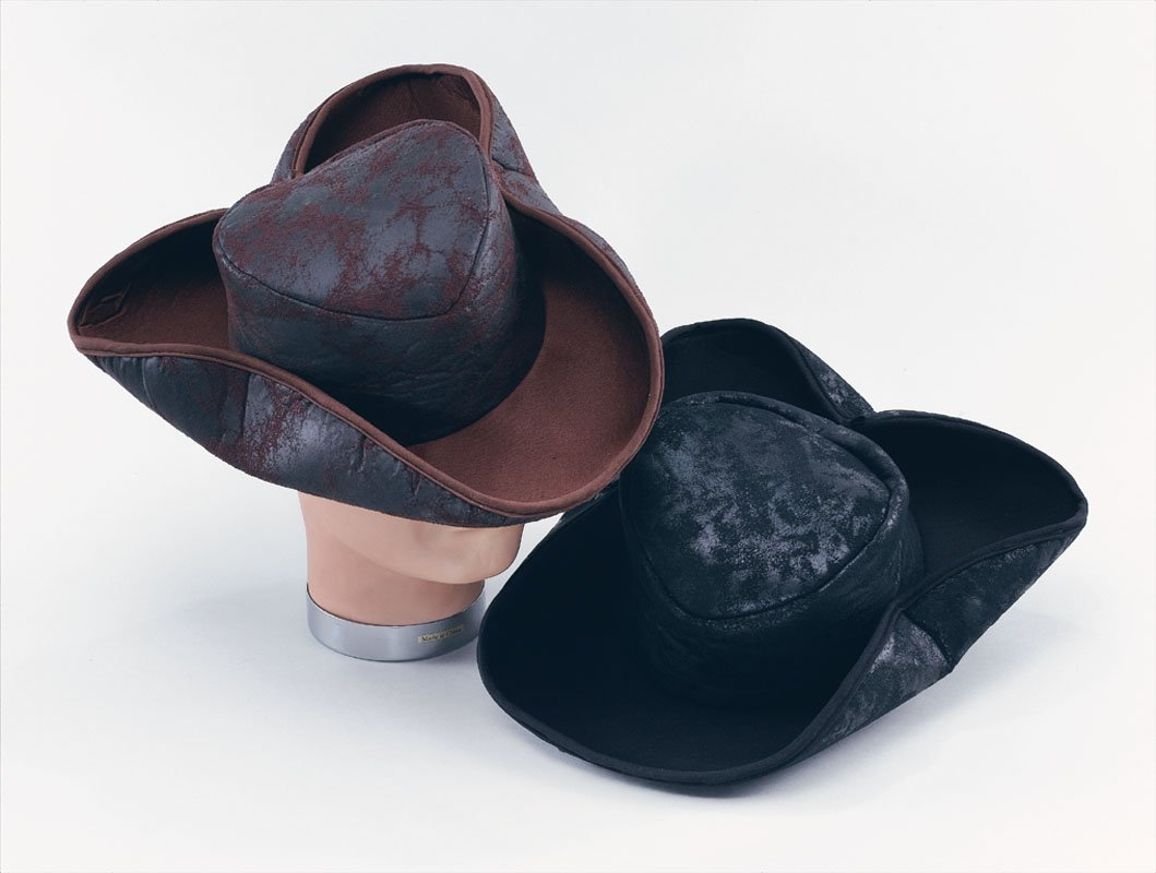 Brown pirate hat distressed BH360