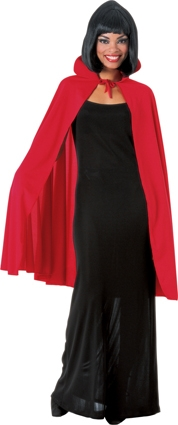 Red cape with collar 850