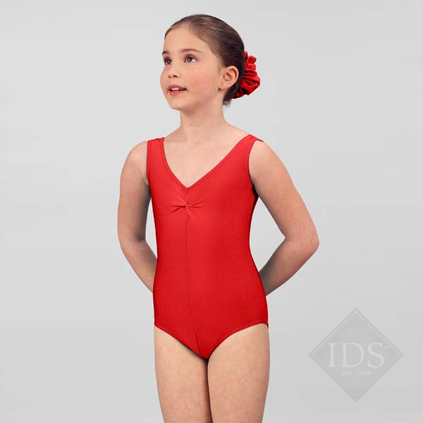 Red lycra  vest leotard Q2a-0