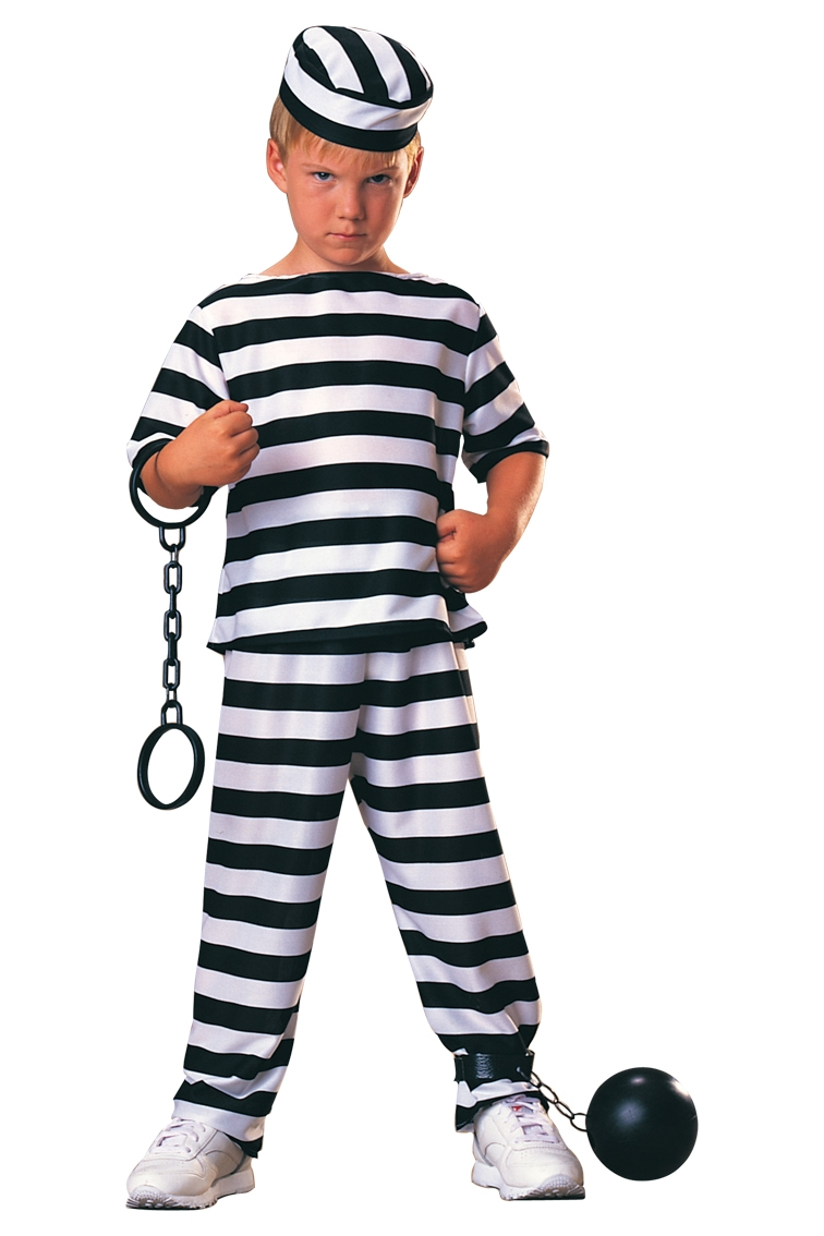 Prisoner boy costume 881917