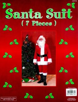 Santa Suit AC633 (including wig and beard)