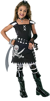 Scar-let pirate costume kids-882031