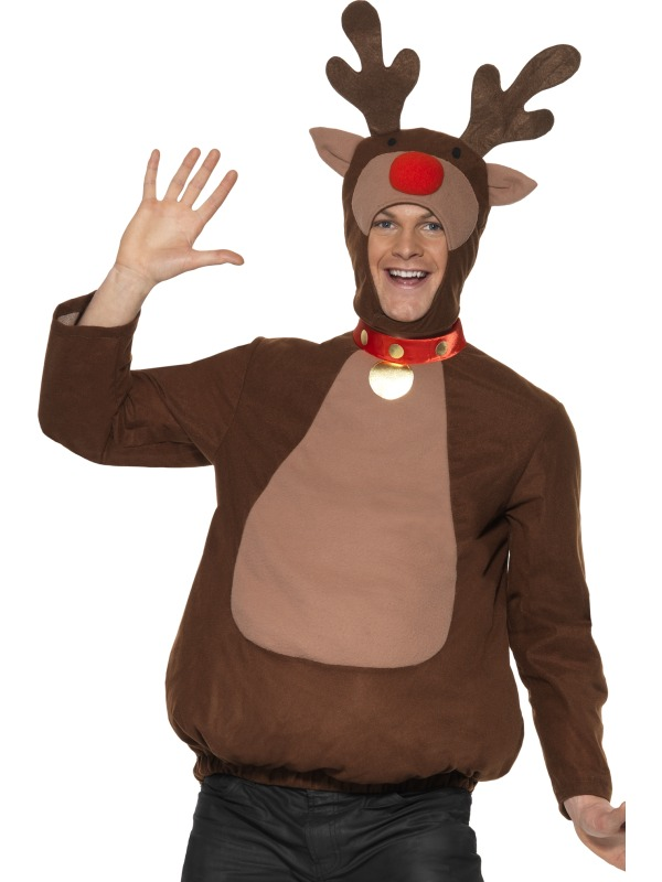 Reindeer Top and Hood with Antlers ef-33610M