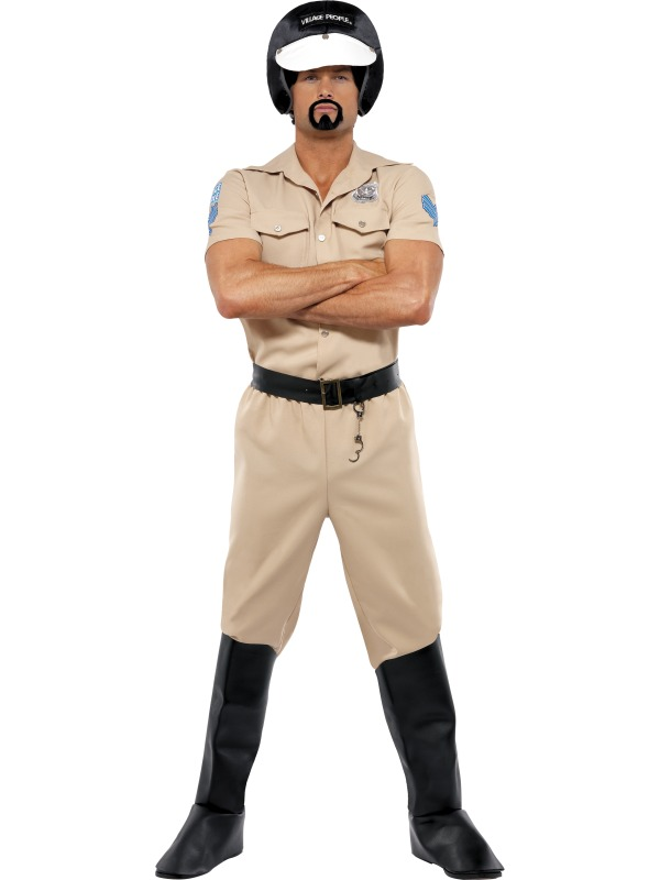 Village People Motorcycle Cop Costume ef-36237 (sm