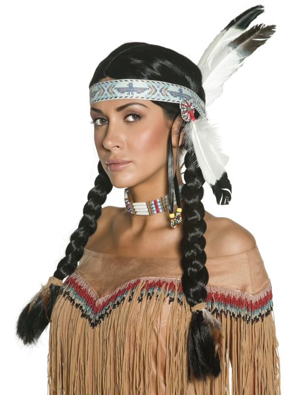 Authentic Western Indian Wig ef-36314 (smiffys)