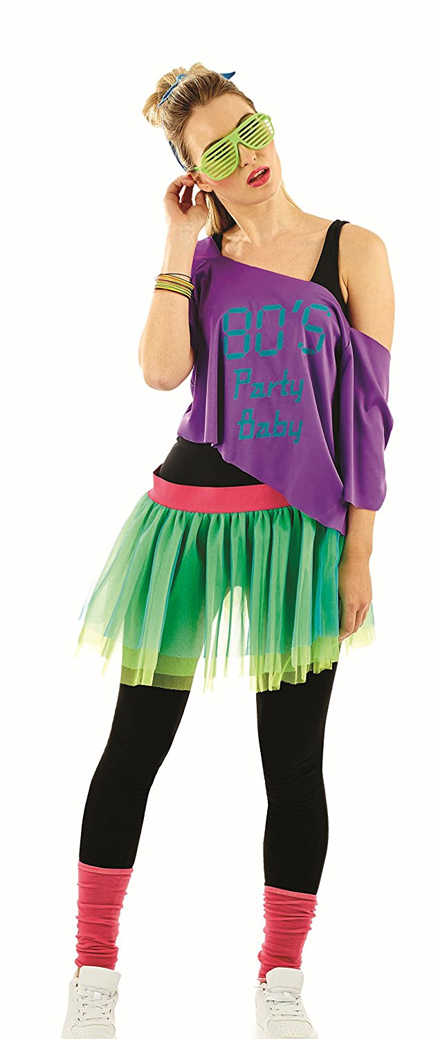 80's tutu kit 4360 (green, purple)