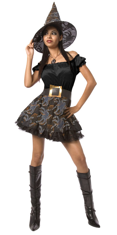 Spider witch costume denim AC895